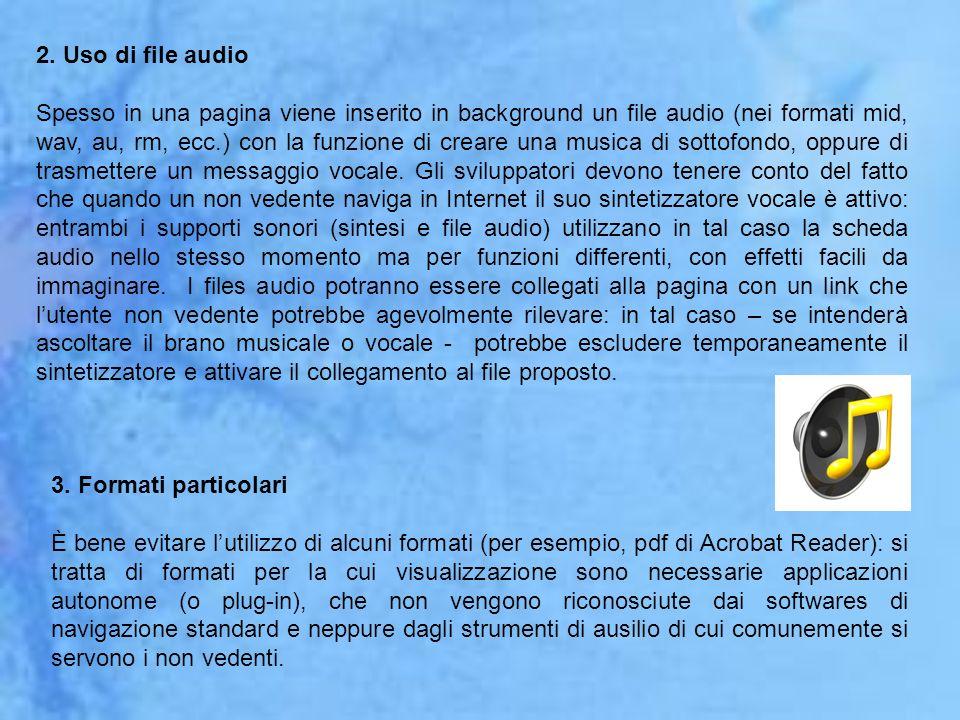 2. Uso di file audio