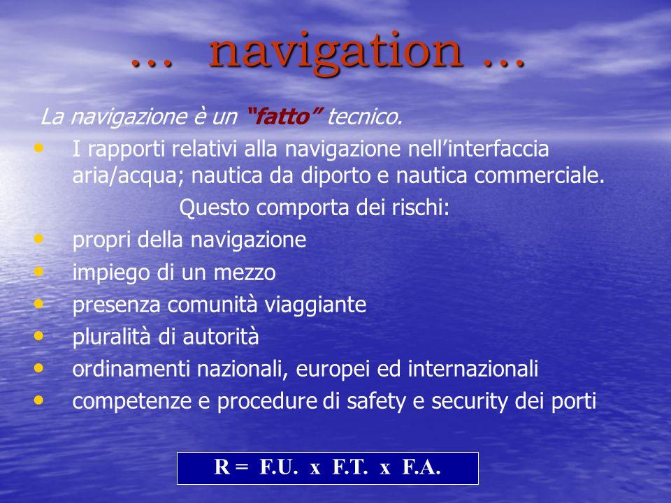 ... navigation ... La navigazione è un fatto tecnico.