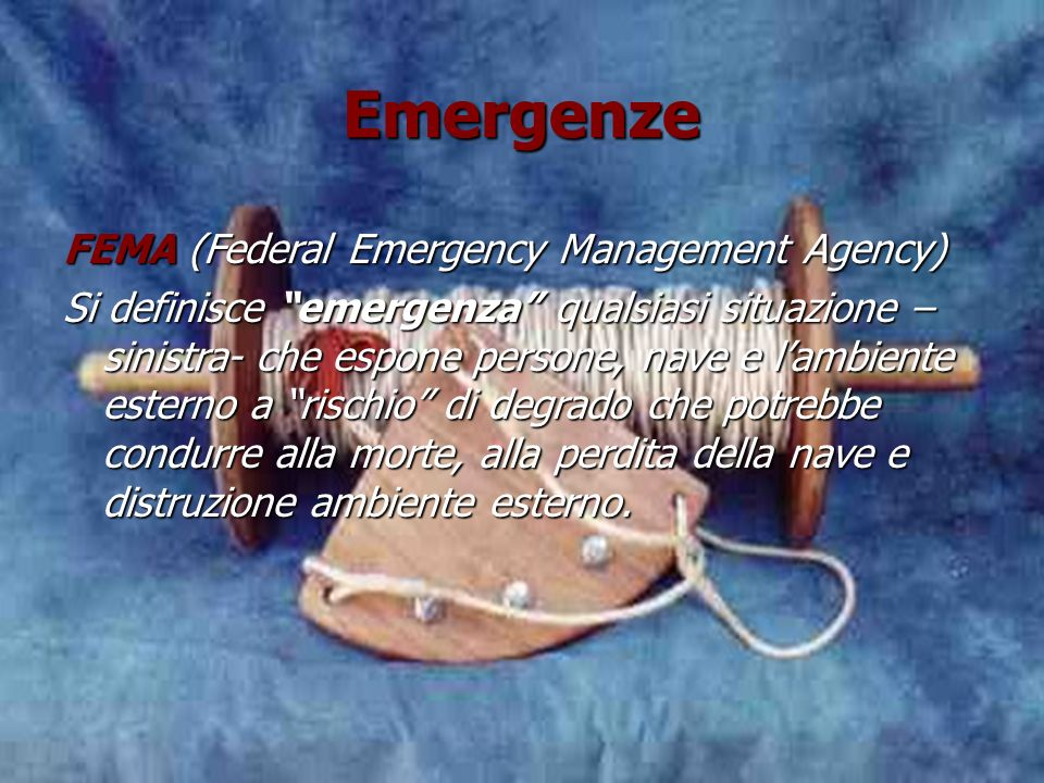 Emergenze FEMA (Federal Emergency Management Agency)