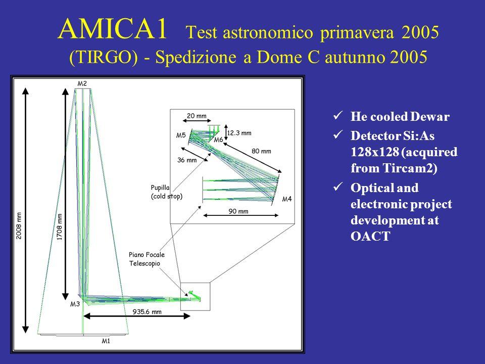 AMICA1 Test astronomico primavera 2005 (TIRGO) - Spedizione a Dome C autunno 2005