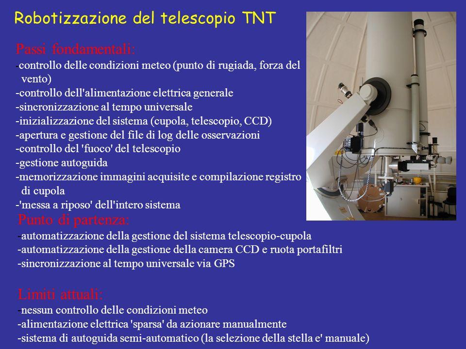 Robotizzazione del telescopio TNT