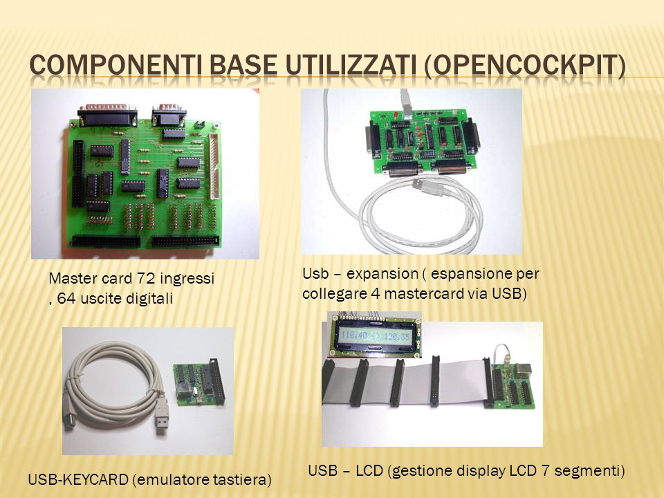 Componenti base utilizzati (Opencockpit)