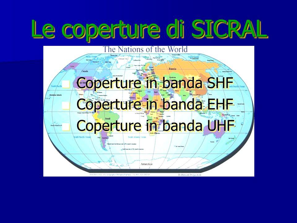 Le coperture di SICRAL Coperture in banda SHF Coperture in banda EHF