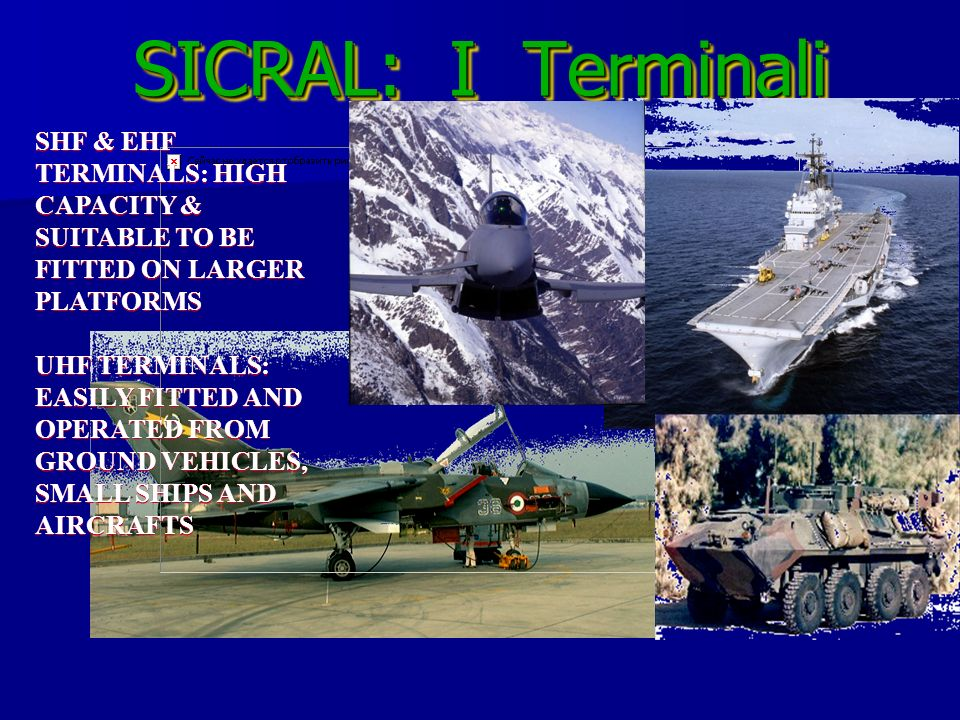 SICRAL: I Terminali SHF & EHF TERMINALS: HIGH CAPACITY & SUITABLE TO BE FITTED ON LARGER PLATFORMS.