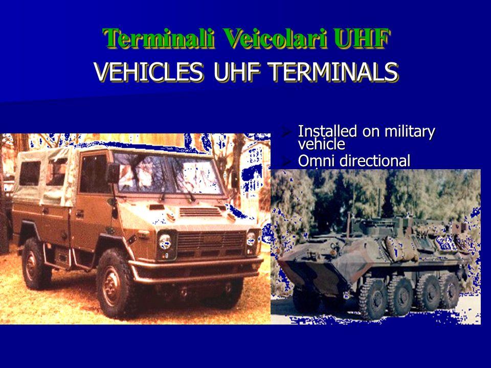 VEHICLES UHF TERMINALS