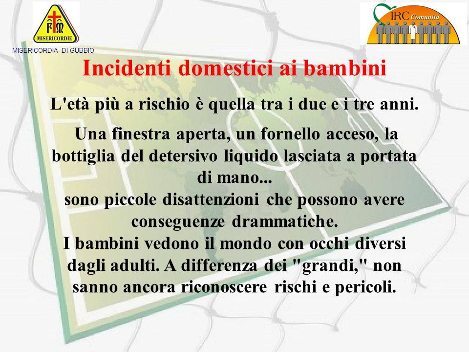Incidenti domestici ai bambini