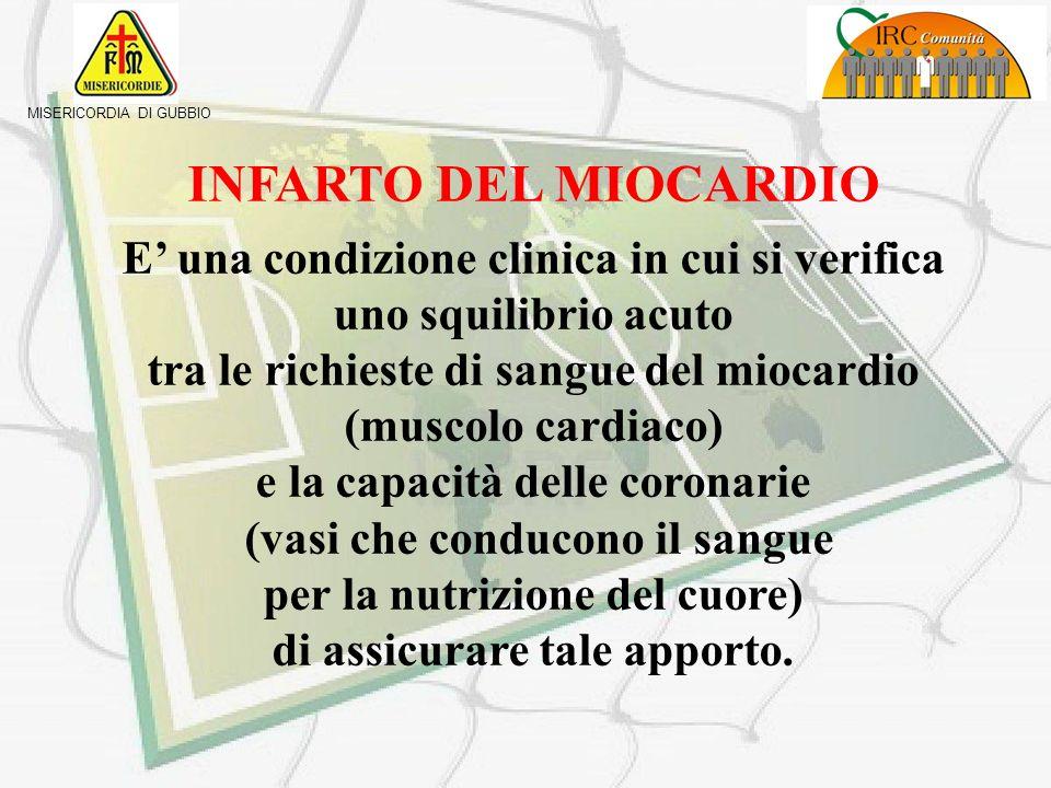 INFARTO DEL MIOCARDIO E' una condizione clinica in cui si verifica