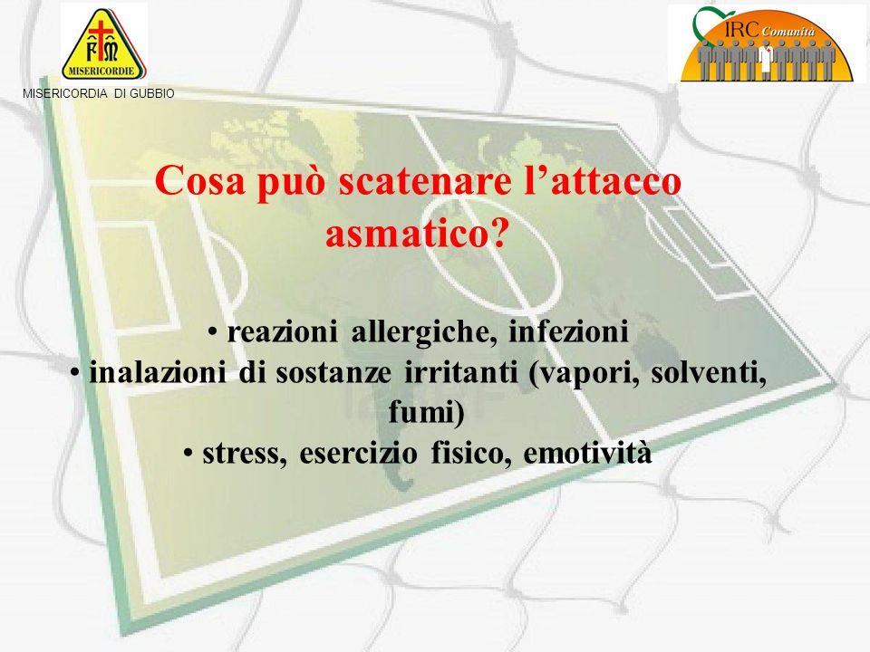 Cosa può scatenare l'attacco asmatico