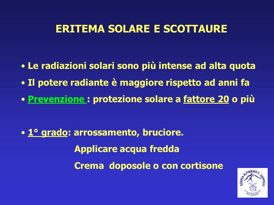 ERITEMA SOLARE E SCOTTAURE