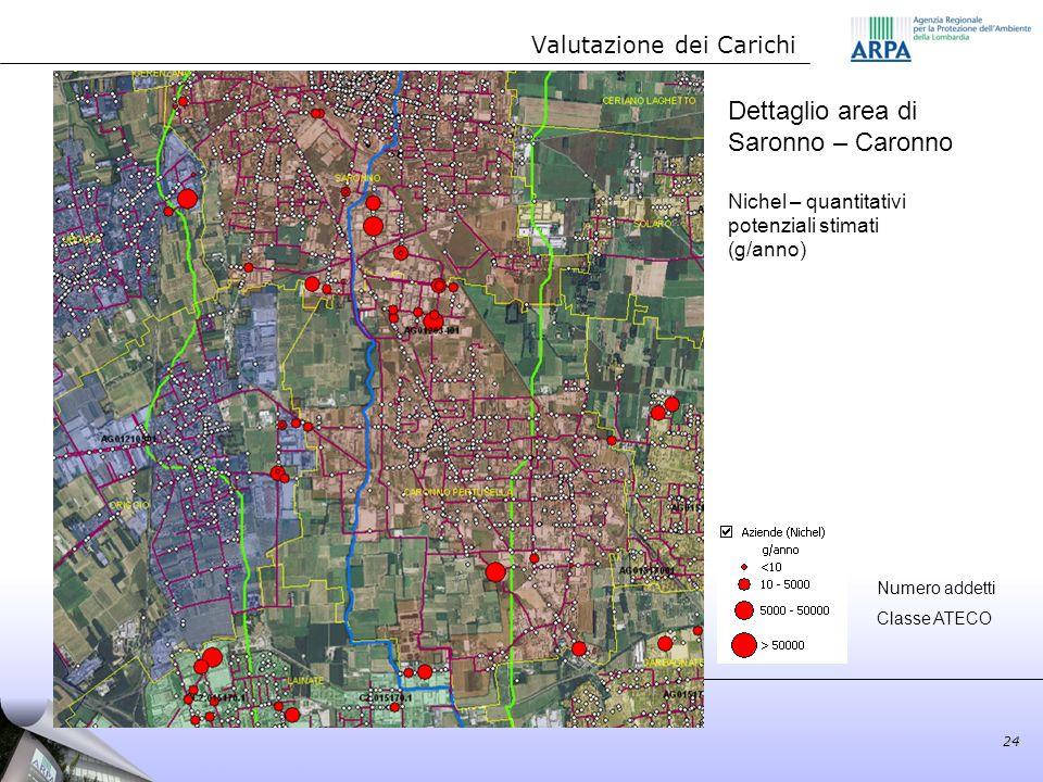 Dettaglio area di Saronno – Caronno