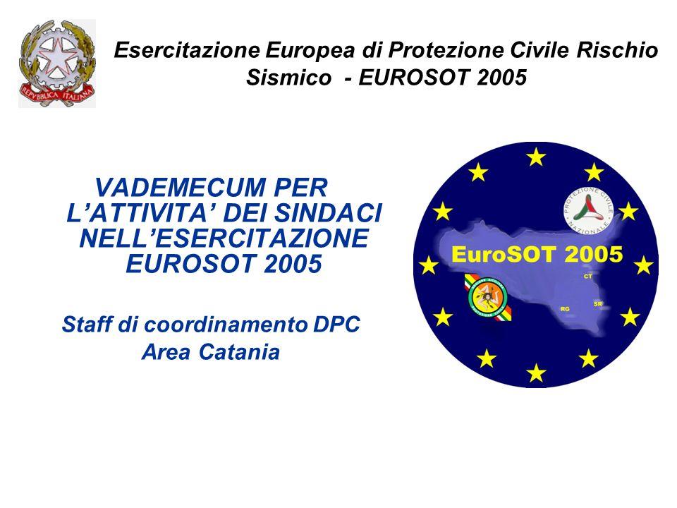 VADEMECUM PER L'ATTIVITA' DEI SINDACI NELL'ESERCITAZIONE EUROSOT 2005