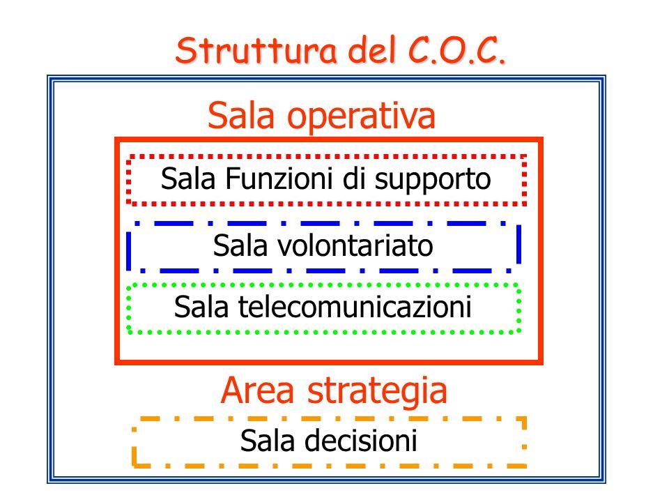 Sala operativa Area strategia Struttura del C.O.C.