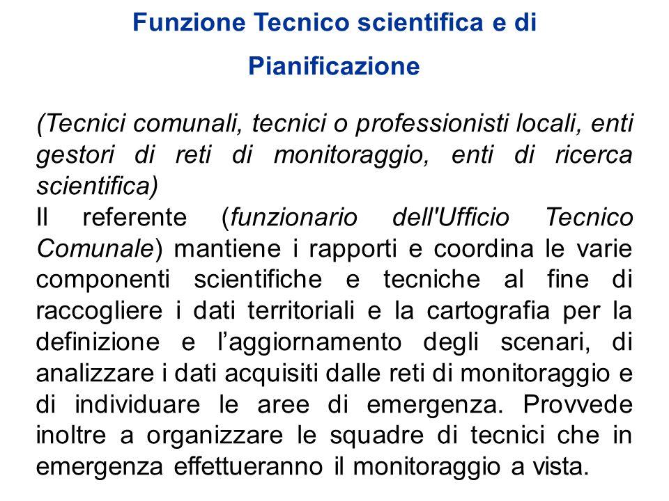 Funzione Tecnico scientifica e di Pianificazione