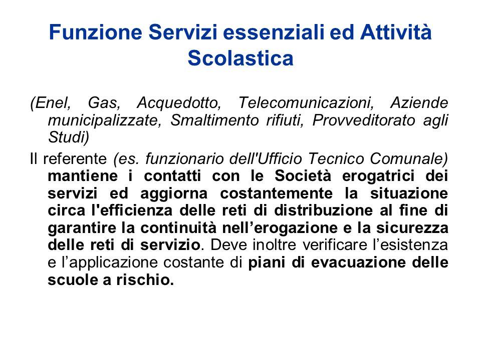 Funzione Servizi essenziali ed Attività Scolastica