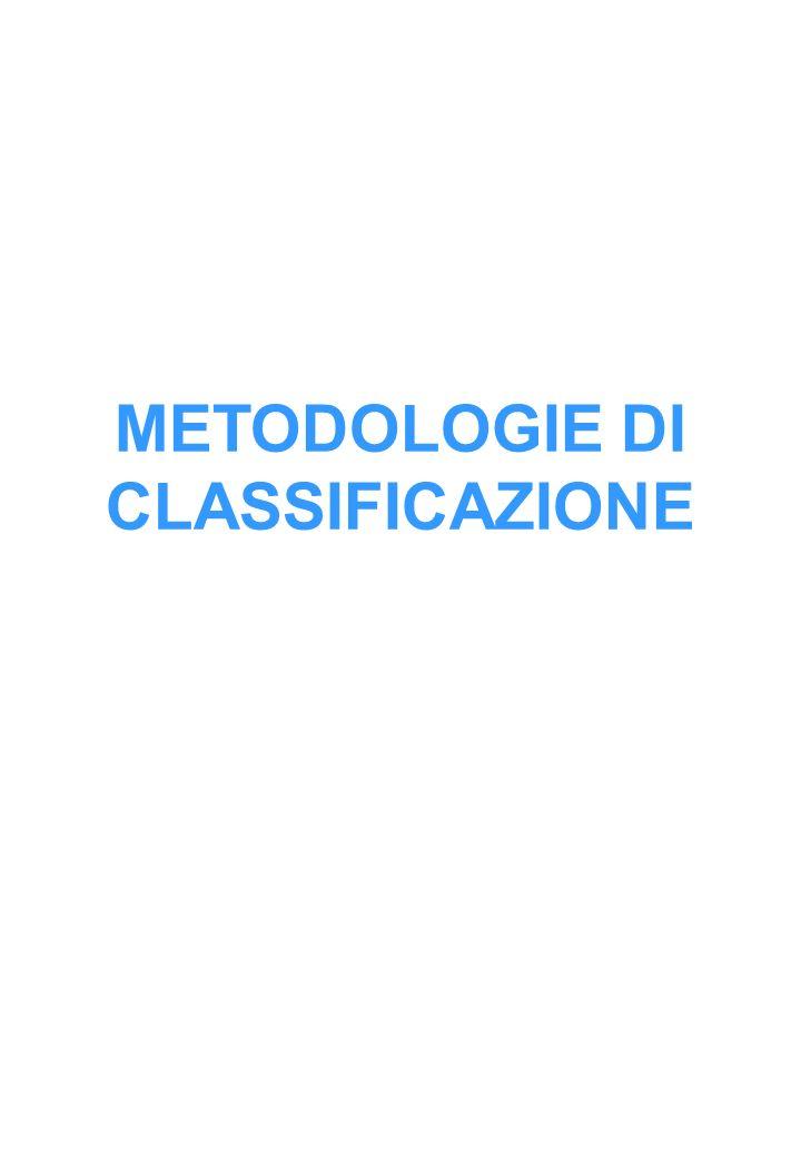 METODOLOGIE DI CLASSIFICAZIONE