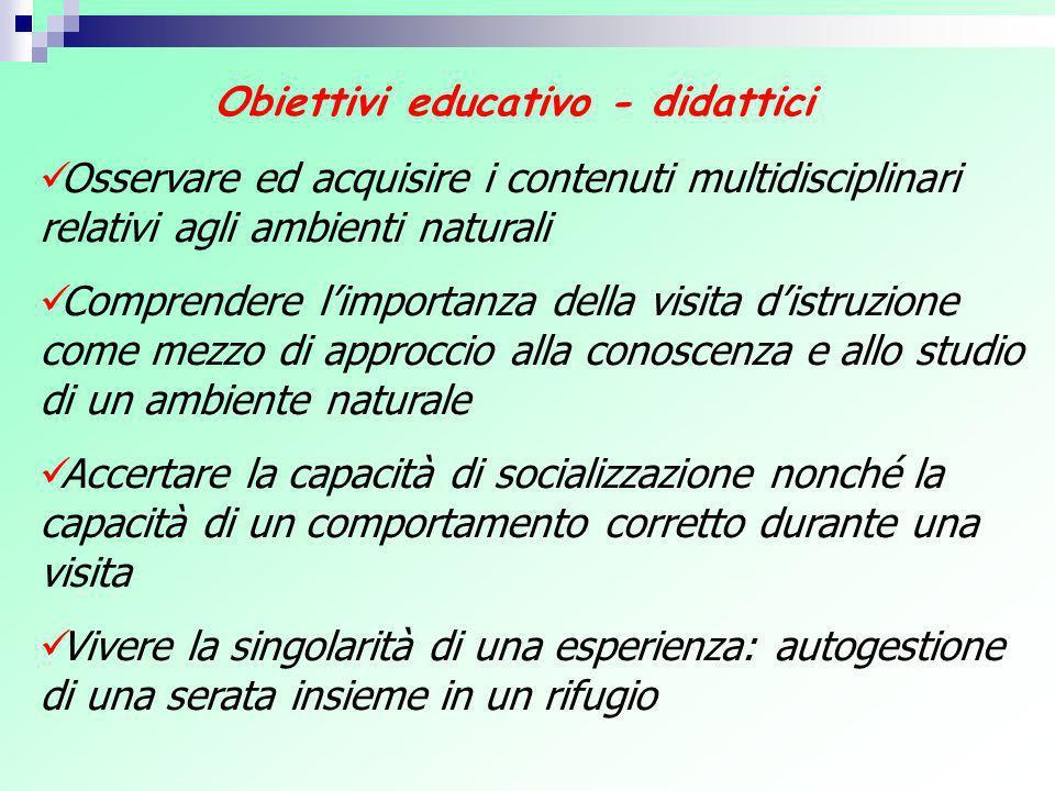 Obiettivi educativo - didattici