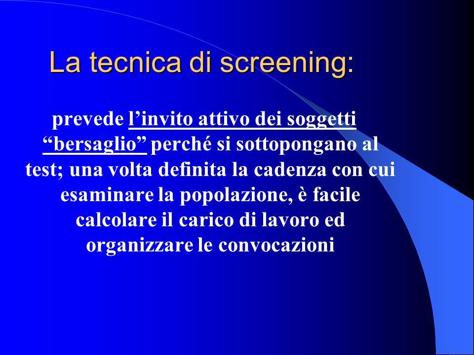 La tecnica di screening: