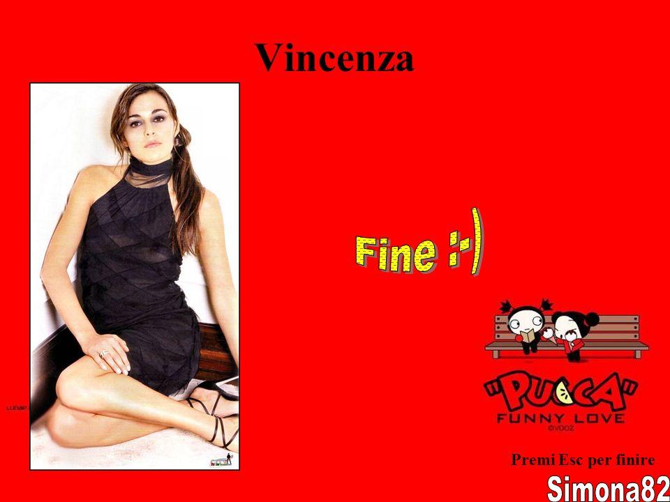 Vincenza Fine :-) Premi Esc per finire Simona82
