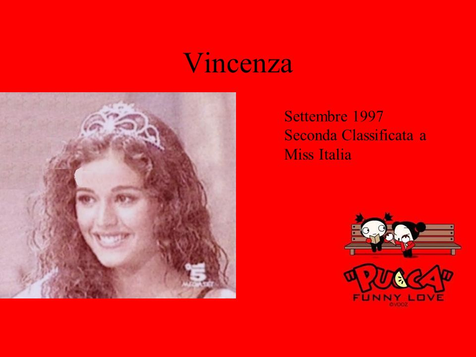 Vincenza Settembre 1997 Seconda Classificata a Miss Italia