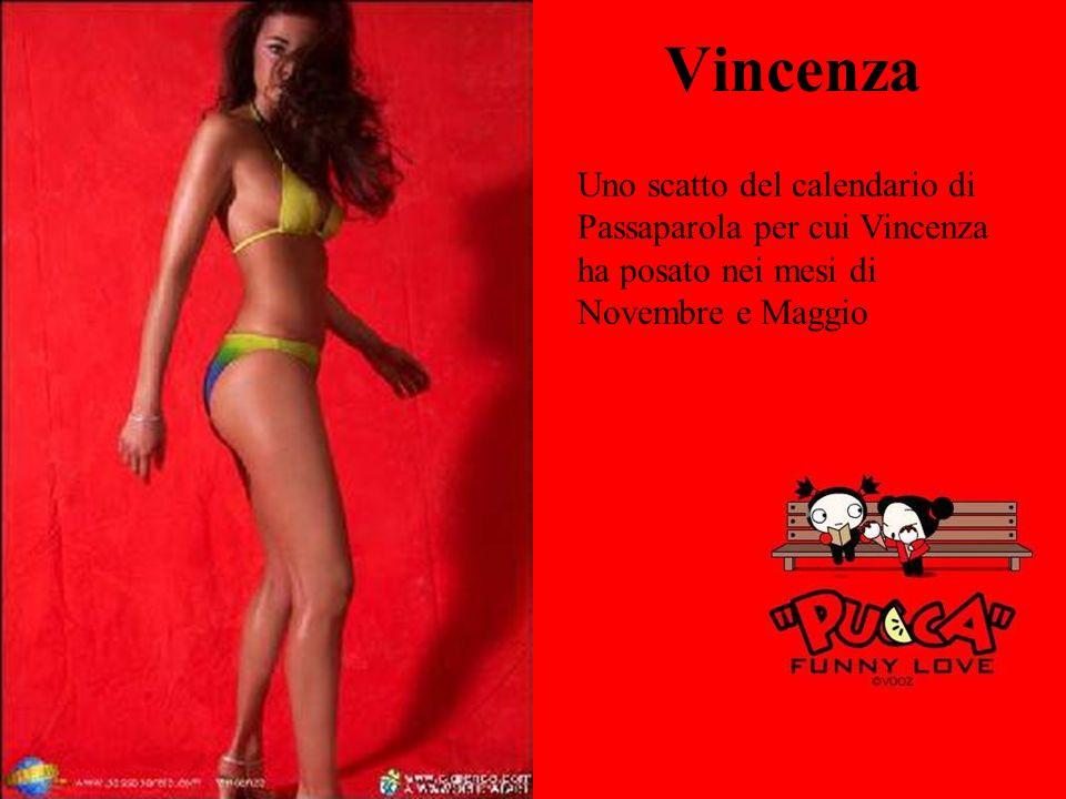 Vincenza Uno scatto del calendario di Passaparola per cui Vincenza ha posato nei mesi di Novembre e Maggio.