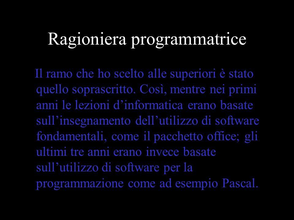Ragioniera programmatrice