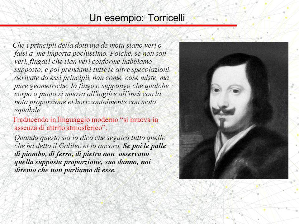 Un esempio: Torricelli