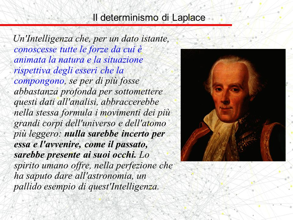 Il determinismo di Laplace