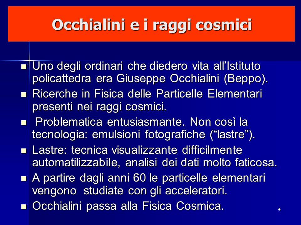 Occhialini e i raggi cosmici