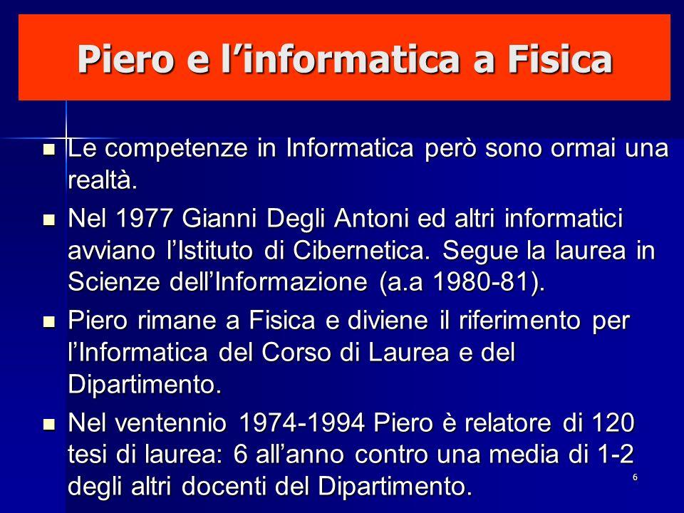 Piero e l'informatica a Fisica