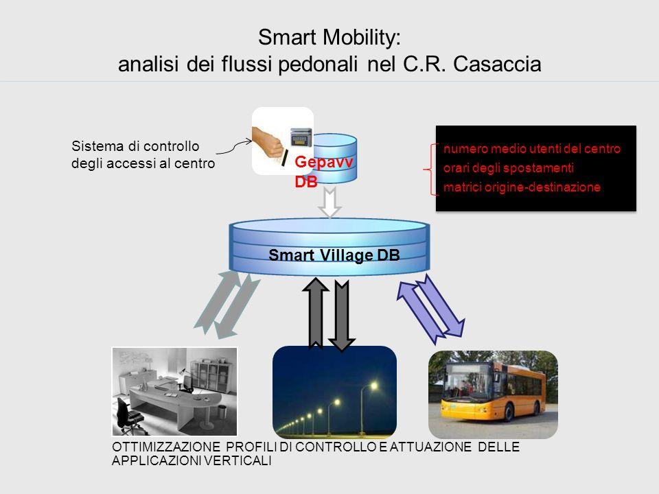 Smart Mobility: analisi dei flussi pedonali nel C.R. Casaccia