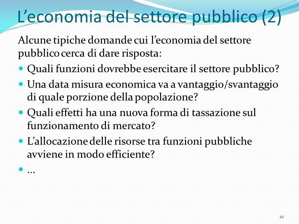 L'economia del settore pubblico (2)