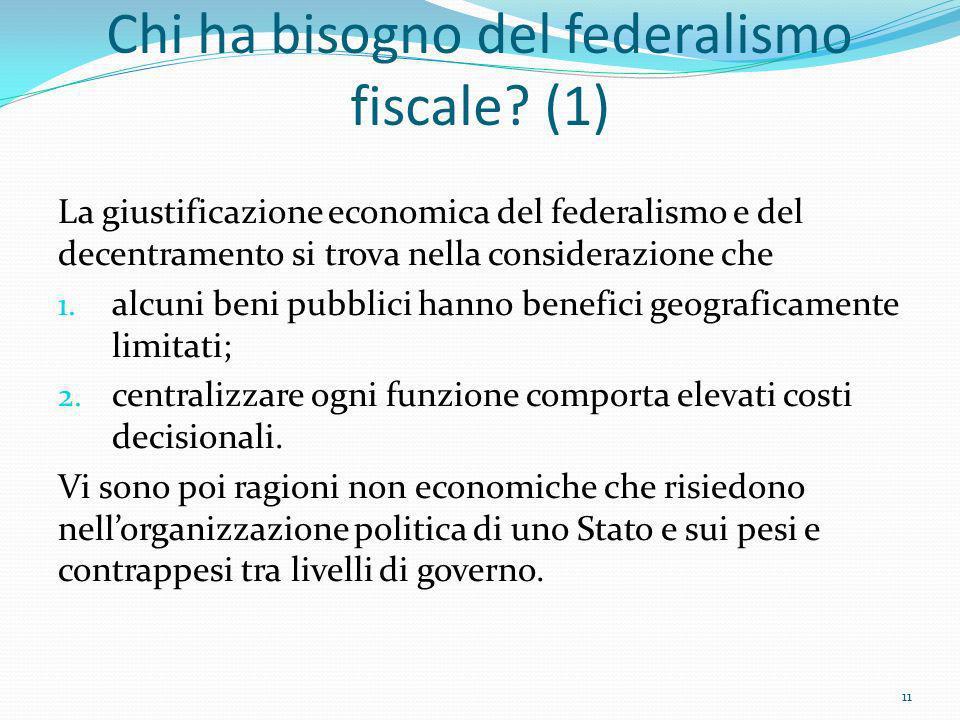 Chi ha bisogno del federalismo fiscale (1)