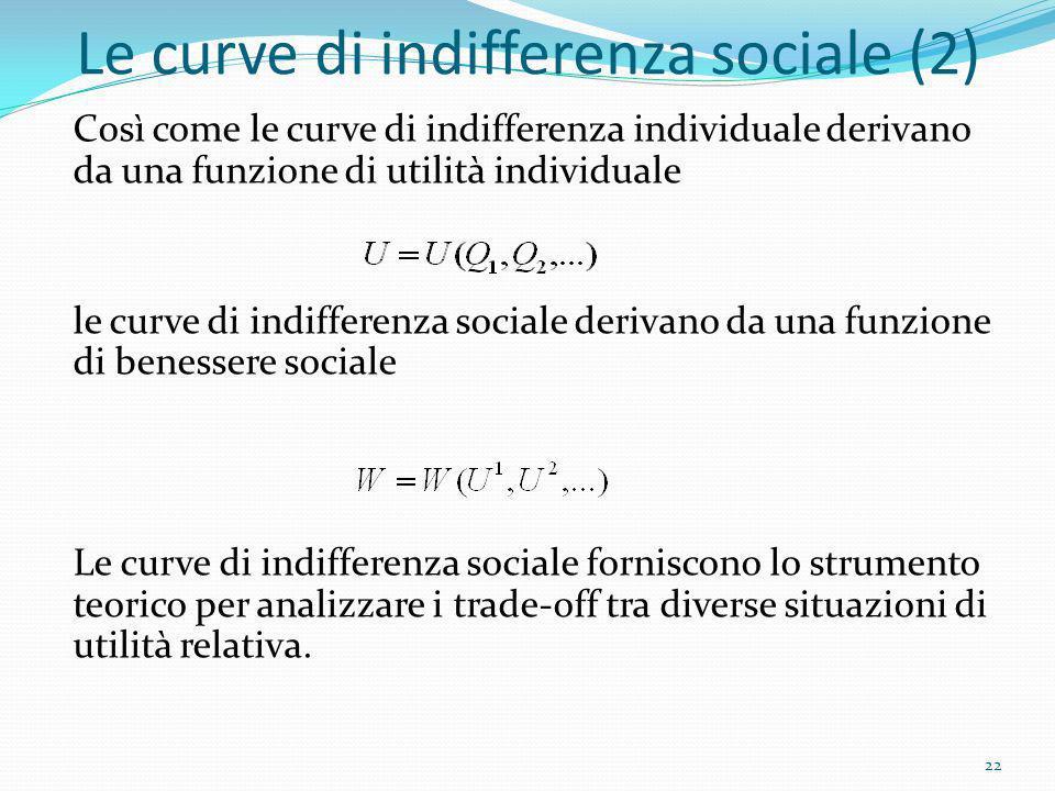 Le curve di indifferenza sociale (2)