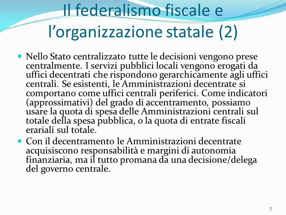 Il federalismo fiscale e l'organizzazione statale (2)