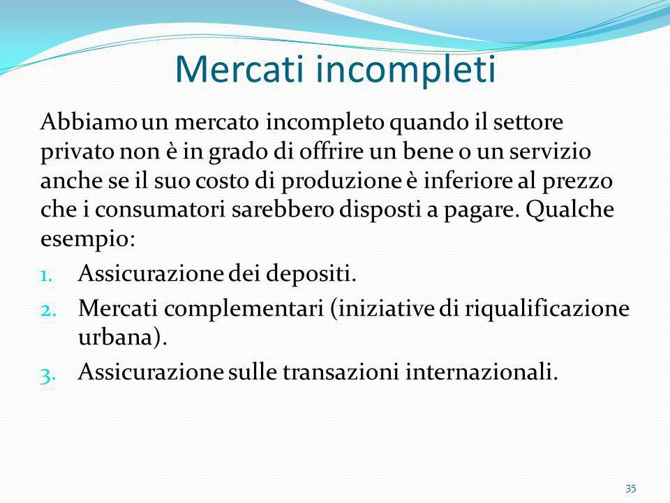 Mercati incompleti