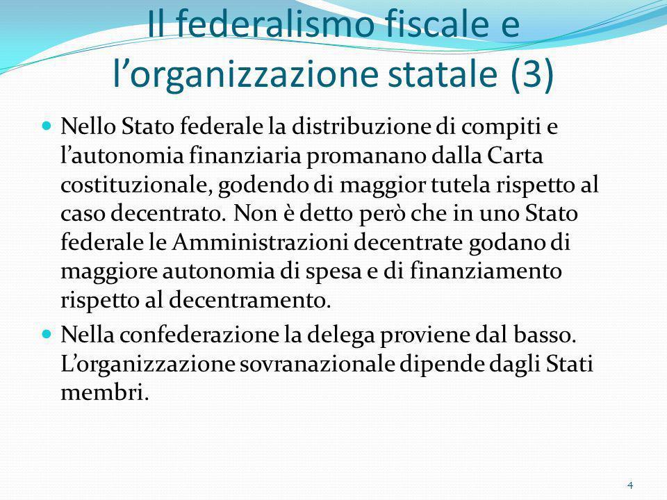 Il federalismo fiscale e l'organizzazione statale (3)