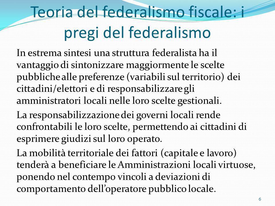 Teoria del federalismo fiscale: i pregi del federalismo