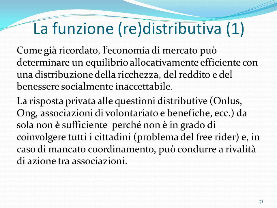 La funzione (re)distributiva (1)