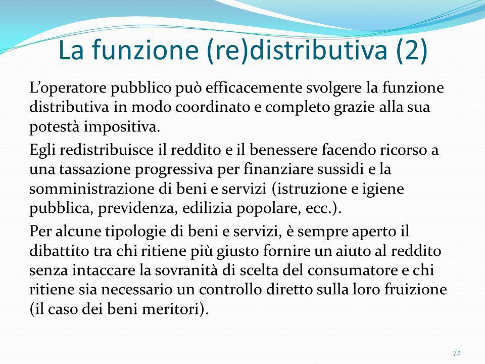 La funzione (re)distributiva (2)
