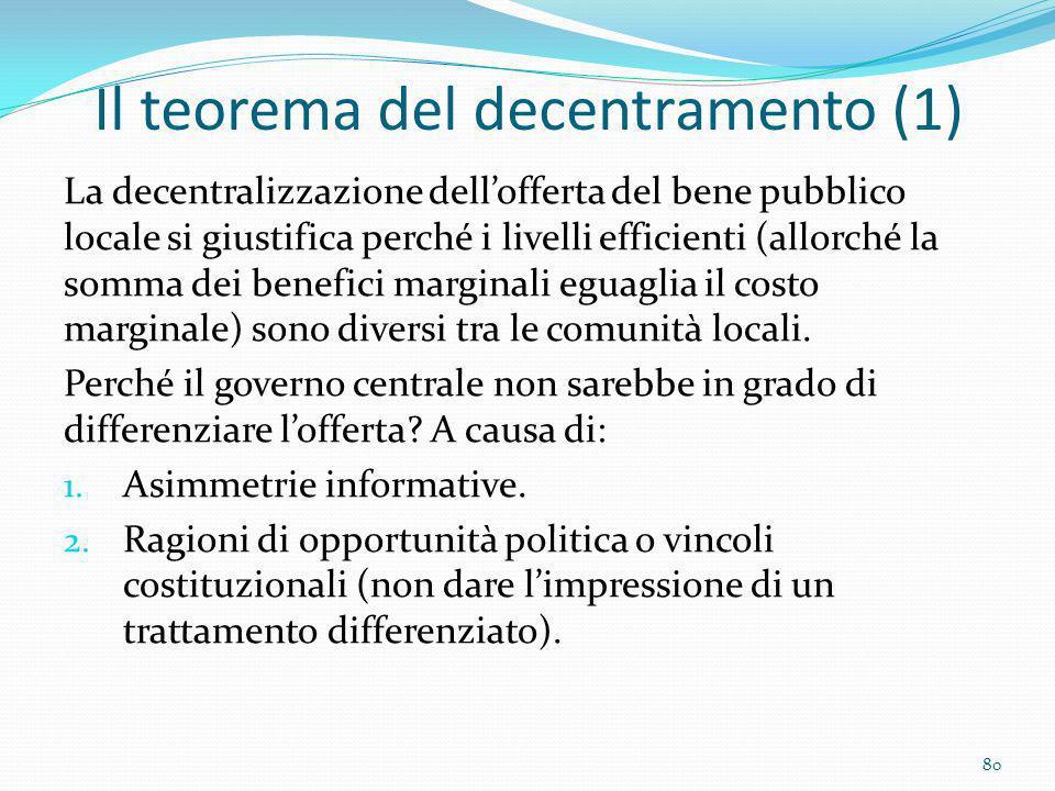 Il teorema del decentramento (1)