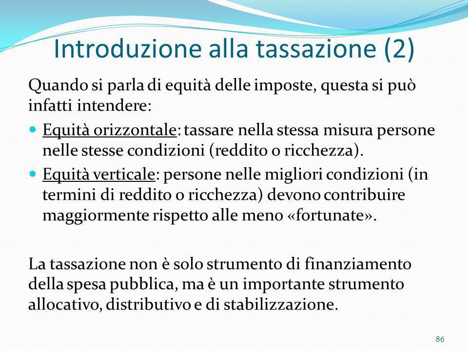 Introduzione alla tassazione (2)