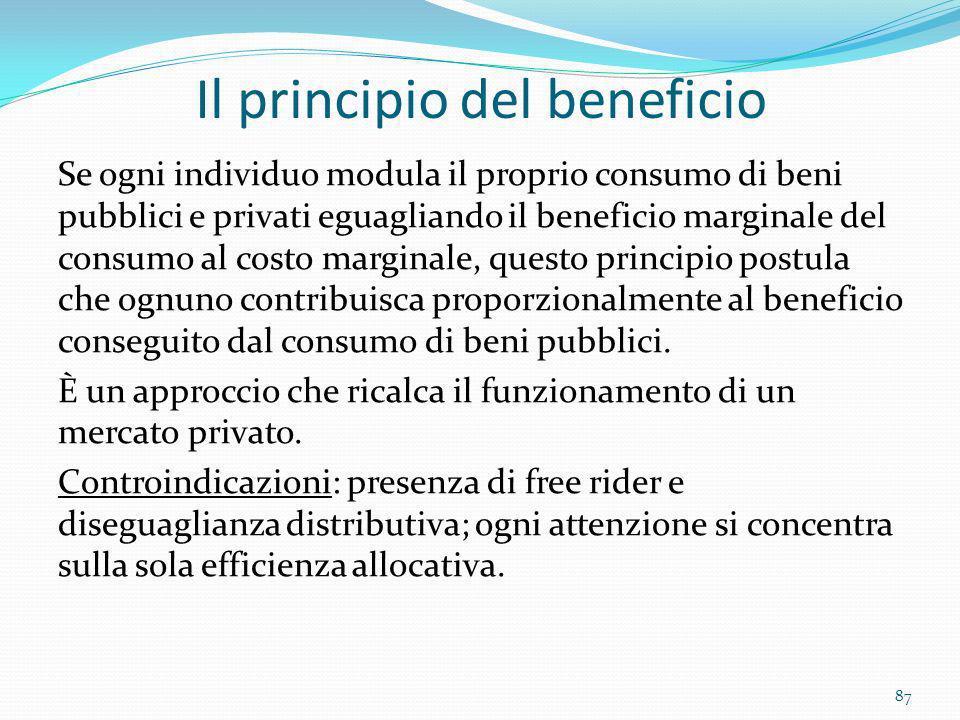 Il principio del beneficio