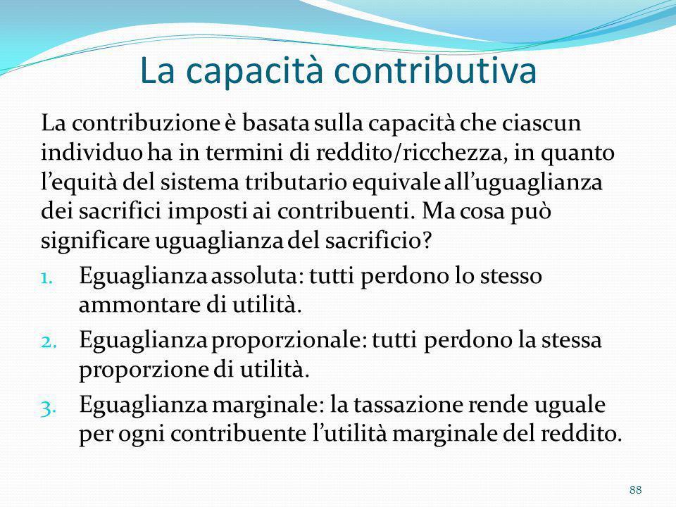 La capacità contributiva