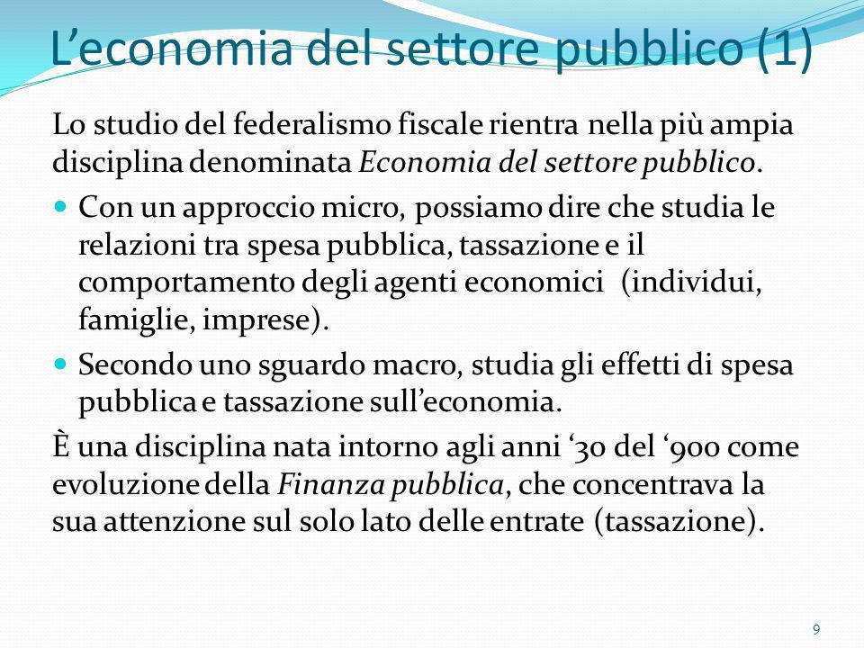 L'economia del settore pubblico (1)