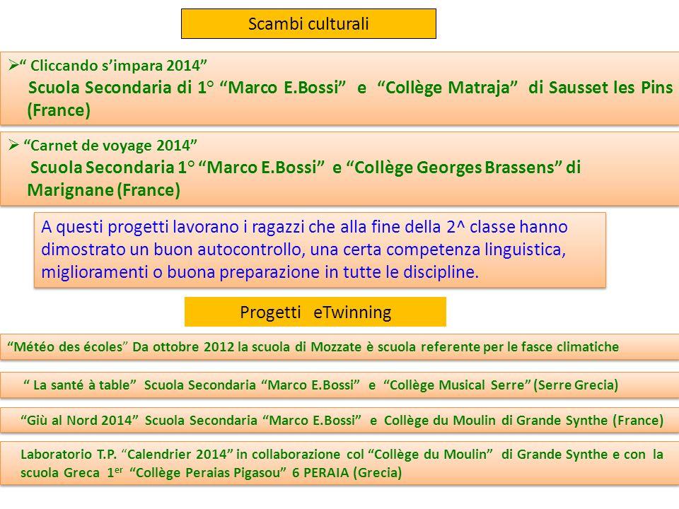 Scambi culturali Cliccando s'impara 2014 Scuola Secondaria di 1° Marco E.Bossi e Collège Matraja di Sausset les Pins (France)