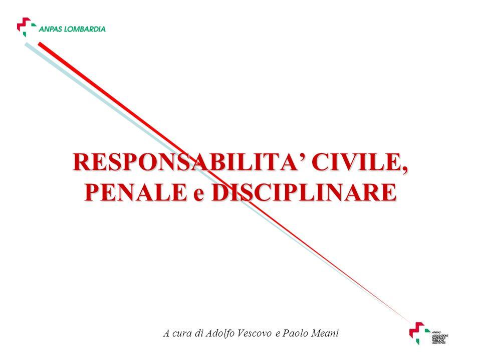 RESPONSABILITA' CIVILE, PENALE e DISCIPLINARE