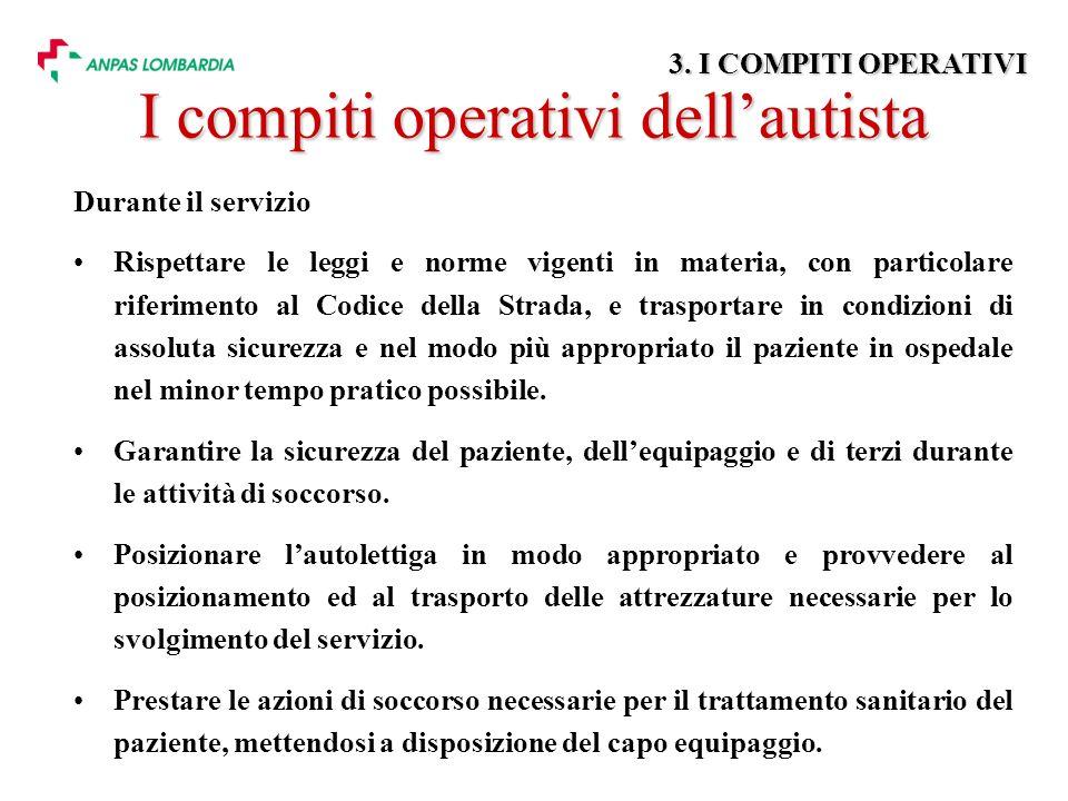 I compiti operativi dell'autista