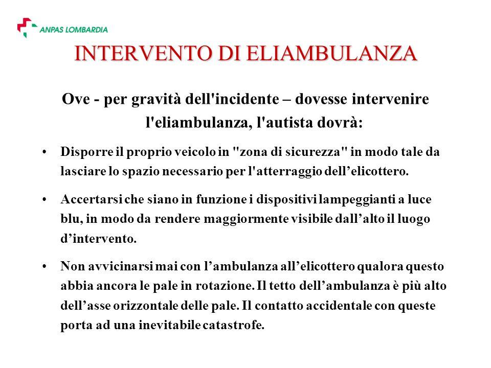 INTERVENTO DI ELIAMBULANZA