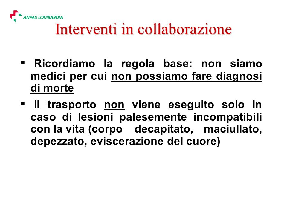 Interventi in collaborazione