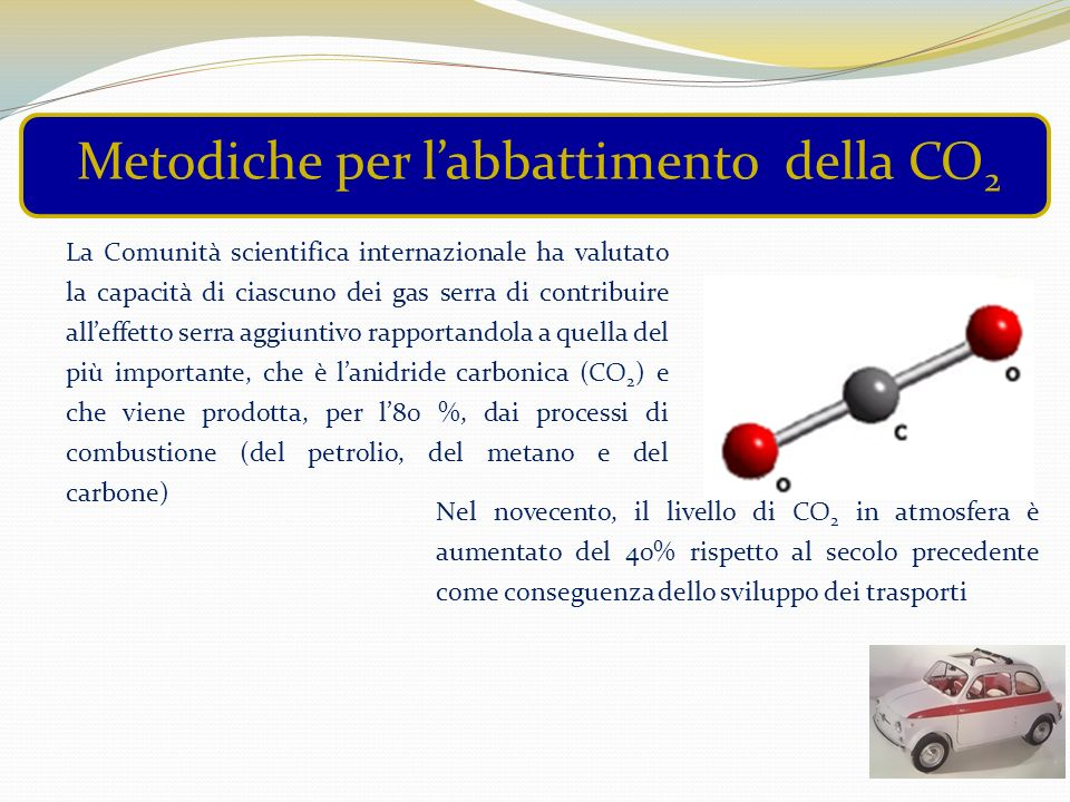 Metodiche per l'abbattimento della CO2